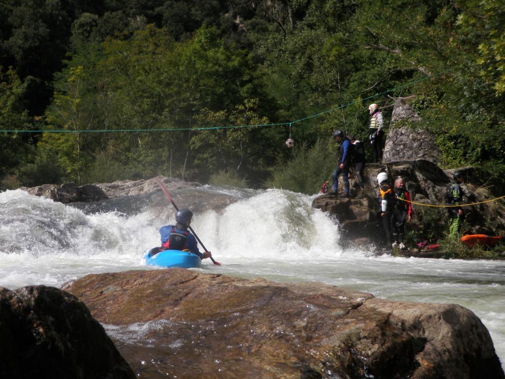 Le saut du fameux passage de Ventadour (fallait viser le ballon)