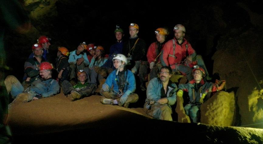 Le CKO et le SCV au fond de la grotte de Jujurieux